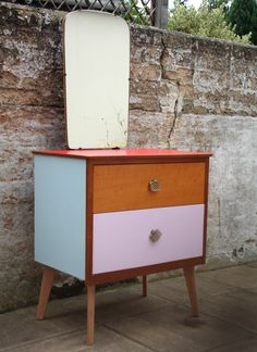 Upcycled vintage retro teak 1960s style chest of drawers £55