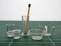 Dollhouse glasswear from plastic wine glasses tutorial