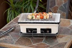 Discover what the Japanese have known for centuries. The secret to perfect grilling is clay. The Yakatori table top grill is constructed of high fired ceramic clay which helps maintain a constant grilling temperature. Authentic Japanese street grill design. Adjustable ventilation.
