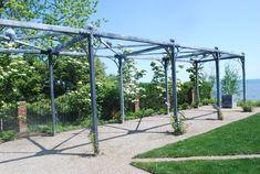 Pergola For Car Parking Iron Pergola, Steel Pergola, Pergola Canopy, Pergola Swing, Deck With Pergola, Covered Pergola, Backyard Pergola, Pergola Shade, Pergola Plans