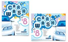 Car Wash Poster Template Design by StockLayouts