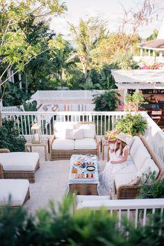 Gal Meets Glam Bahama House Island - Athena Procopiou dress c/o, Preston & Olivia hat, Castaner espadrilles 7 Poolside tote