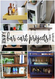 10 DIY bar cart projects