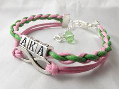 Alpha Kappa Alpha infinity bracelet
