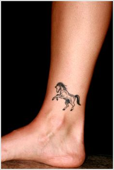 The Art of Horse Tattoo Design: The Small Horse Tattoo Designs And Meaning On Foot ~ tattooeve.com Tattoo Design Inspiration