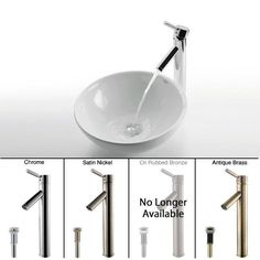 """View the Kraus C-KCV-141-1002 Bathroom Combo - 16"""" Ceramic Vessel Bathroom Sink With Vessel Faucet, Pop-Up Drain, and Mounting Ring at FaucetDirect.com."""