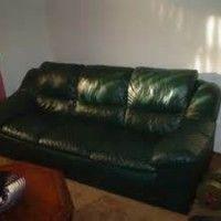 Dark Green Leather SofaNiceSofa