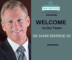 We're proud to announce the newest addition to the Gulf Coast Pain Institute team Dr. Mark Renfroe, DC.