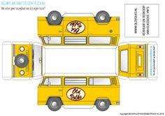 Download free VW T2 camper paper models from www.bouwplaatvanjeeigentruck.nl