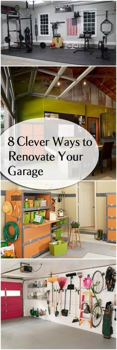 8 Clever Ways to Remodel Your Garage- 8 Clever Ways to Remodel Your Garage 8 Cl. 8 Clever Ways to Remodel Your Garage- 8 Clever Ways to Remodel Your Garage 8 Clever Ways to Renova Garage Renovation, Garage Remodel, Garage Makeover, Garage Shed, Garage House, Garage Doors, Garage Signs, Garage Exterior, Diy Exterior
