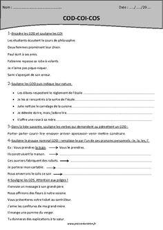 Pronoms personnels COD et COI - Exercices | ~Moi et le francais~ | Learn french, French ...