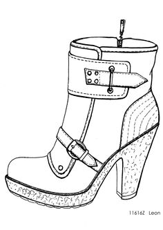 designer shoe sketches - Google Search