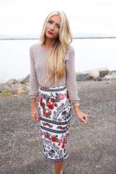 Mexican inspired pencil skirt- stevie henderson