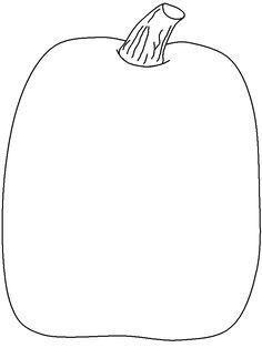 Pumpkin Outline - AZ Coloring Pages Halloween Activities, Autumn Activities, Halloween Themes, Halloween Pumpkins, Fall Halloween, Halloween Crafts, Halloween Templates, Halloween Painting, Halloween Costumes