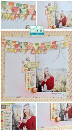 New October Afternoon Cakewalk collection layout by Wilna Furstenberg.