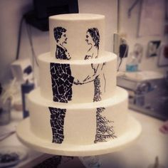 Original idea for a wedding cake