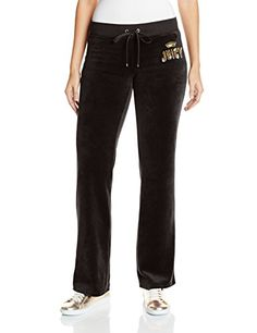 Juicy Couture Black Label Women's Logo Jc Laurel Vlr Bootcut Pant, Pitch Black, X-Small *** Read more  at the image link.