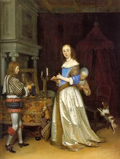 Lady in her room by Gerard Terborch