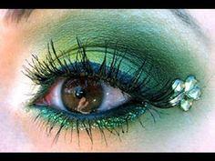 Green Eye makeup/Saint Patricks Day!