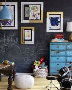 HGTV magazine spread / Emily Henderson - such a great playroom! Kid Spaces, Living Spaces, Colorful Playroom, Playroom Art, Hgtv Magazine, Blog Deco, Kids Decor, Home Decor, Decoration