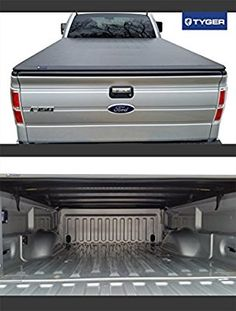 Amazon Com Tyger Auto Tg Bcf Tri Fold Pickup Tonneau Cover Fits   Ford F  Not Flareside W O Utility Track   Inch Automotive