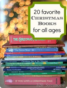 20 Favorite Christmas Stories and Books For All Ages from 320 Sycamore.  Can include & utilize with advent & countdown to Christmas calendars.
