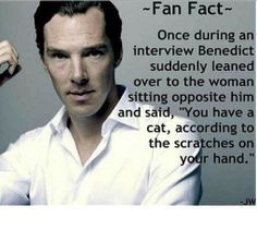 Off-camera, the Sherlock in him is still alive and kicking - yet another reason to love him so much :3