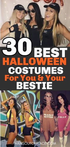 30 Halloween costumes for best friends, especially hot costumes for women or college. These easy DIY halloween costumes for friends will make this halloween the best.