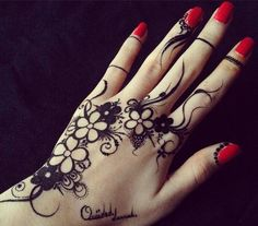 This is a henna...but would be a cool tattoo w/o the writing