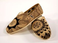 Henna hand painted shoes from etsy. Click on the picture for the link!