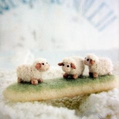 small world trip-encircled by felted wool--japanese craft book - cutest little sheep!