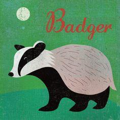 'Badger' by Benjamin Bay on artflakes.com as poster or art print $16.63