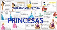 ComprensióN Lectora – 2 Tareas con cada Princesa.