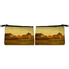 Rikki Knight Van Gogh Art Farmhouses Scuba Foam Coin Purse Wallet - unisex - Affordable gift for all occassions
