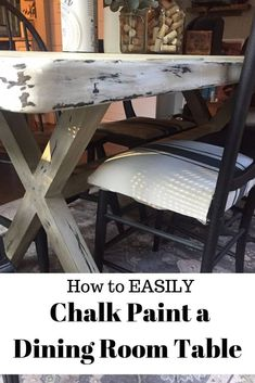 Chalk Paint Dining Room Table – Is it a Good Idea? - Amazing DIY Projects Chalk Paint Dining Room Table – Is it a Good Idea? Learn everything you need - Painted Farmhouse Table, Painted Kitchen Tables, Chalk Paint Dining Table, Chalk Paint Furniture, Furniture Refinishing, Dinning Room Tables, A Table, Dining Area, Diy Projects