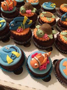 Finding nemo theme cupcakes