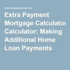 additional loan payment calculator