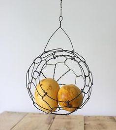 Mini Hanging Sphere Wire Basket