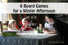 Children's Board Games for a Winter Afternoon or Rainy Afternoon