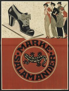 http://chicerman.com  design-is-fine:  Advertising poster for the shoe brand Salamander 1920. Germany. Via Swann Galleries.  #menshoes