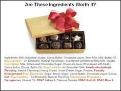 Are You Getting Conned By Cheap & Toxic Chocolate?  Are these ingredients worth it?