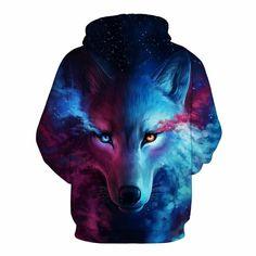 Wolf Hoodie - Wolf 3D Hoodie - Wolf Jacket