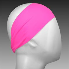 Light Performance Spandex Headband by Ponya Bands in Bubble Gum | ponyabands.com