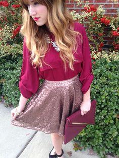 Sequin Skirt  #swoonboutique