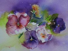 Afbeeldingsresultaat voor aquarel voorbeelden bloemen