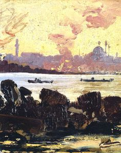 Sami Yetik, Paysage d'Istanbul, 1910