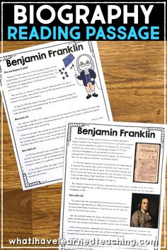 Biographies To Read Social Studies - Web 2020 Best Site Biography Project, Social Studies Activities, Teaching Social Studies, Hands On Activities, American History Lessons, History For Kids, Benjamin Franklin For Kids, Social Studies Notebook