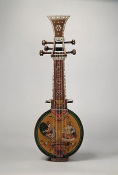Sursanga lute, C, made from Indian wood, pearl & ivory. Sursanga is one of many Indian lute instruments popular in century. India art features lutes in Ragamala paintings. Guitar Art, Cool Guitar, Musica Celestial, Indian Musical Instruments, Rick E, Essayist, Chor, India Art, World Music