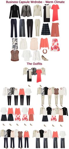 A business wear capsule wardrobe for a warm climate from Looking Stylish