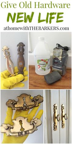 Restore Furniture Hardware with this easy cleaning technique!